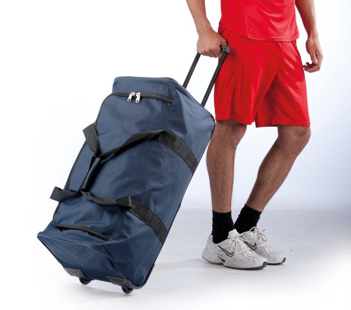 Duża torba podróżna na dwóch kółkach KIMOOD®, kolor CZARNY