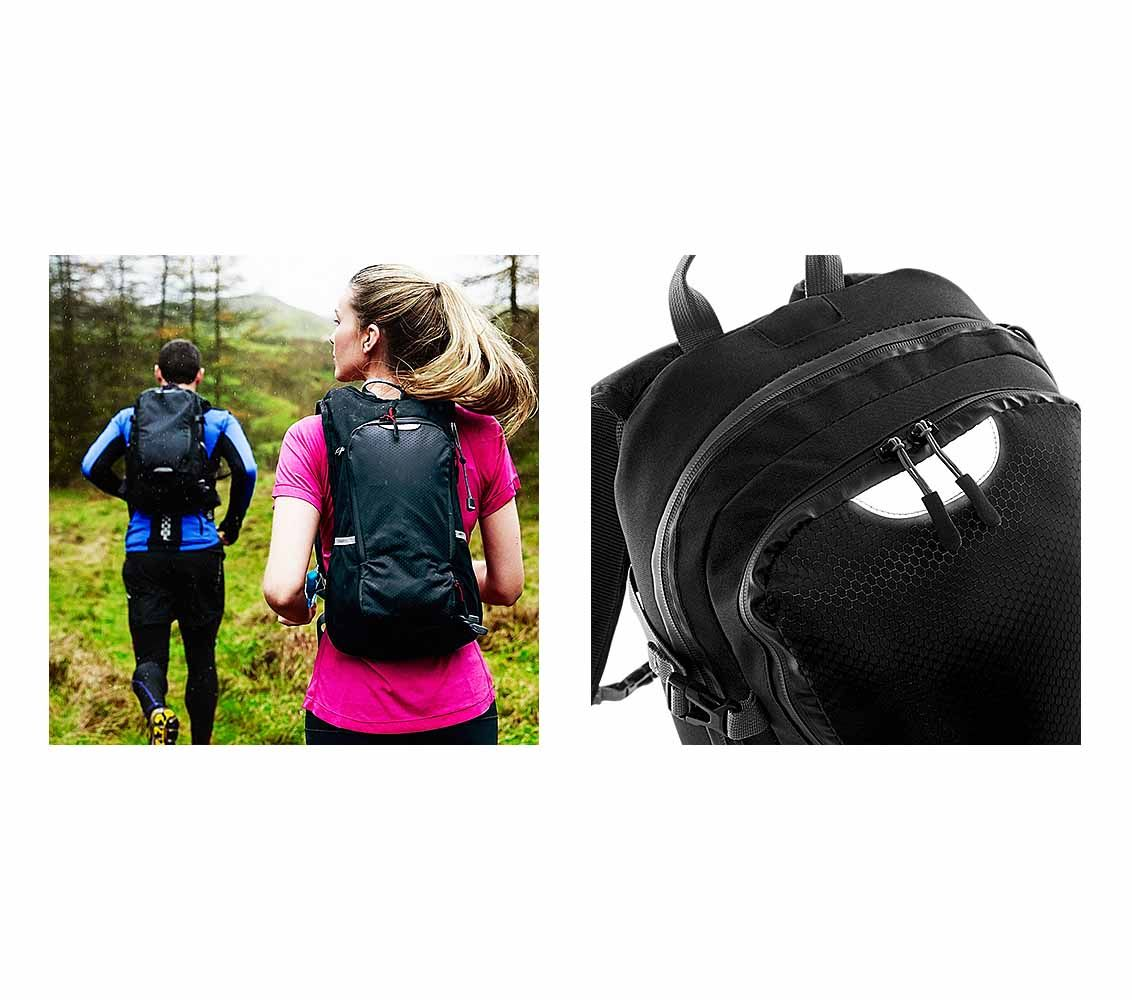a0be7a433af97 Mały plecak trekkingowy QUADRA® SLX 20, kolor CZARNY - aletanietorby.pl