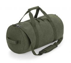VINTAGE CANVAS BARREL BAG BG655 21R.BB.424