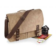 VINTAGE CANVAS SATCHEL MESSENGER QD625 21T.QA.430
