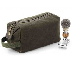 HERITAGE WAXED CANVAS WASH BAG QD651 21X.QA.432