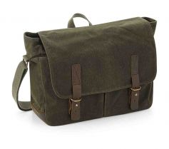 HERITAGE WAXED CANVAS MESSENGER QD653 21T.QA.433