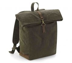 HERITAGE WAXED CANVAS BACKPACK QD655 21P.QA.434