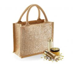 SHIMMER JUTE MINI GIFT BAG W431 21D.WM.258