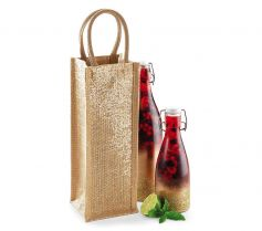 SHIMMER JUTE BOTTLE BAG W433 21D.WM.259