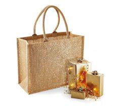 SHIMMER JUTE SHOPPER W437 21D.WM.260