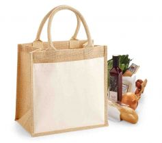 COTTON POCKET JUTE MIDI TOTE W426 21Z.WM.584